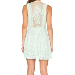 Free People Embroidered Mesh Reign Over Me Dress